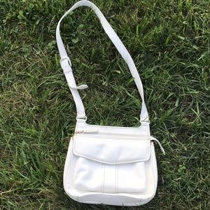NWOT Fossil white leather crossbody